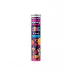 Apexis Kids Vitamin Ahududu ve Çilek Aromalı 22 Efervesan Tablet