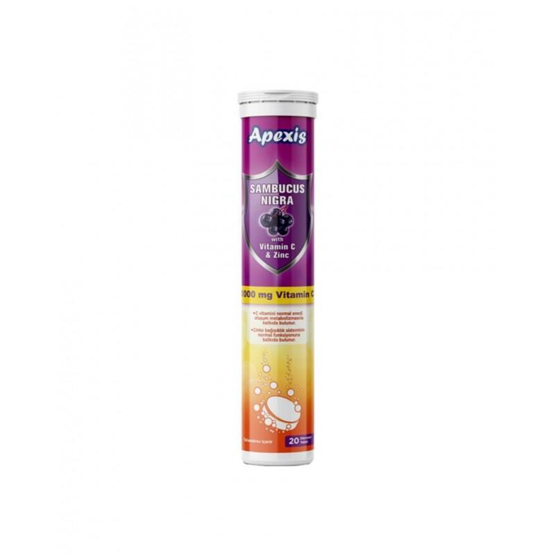 Apexis Sambucus Nigra C Vitamini 20 Efervesan Tablet