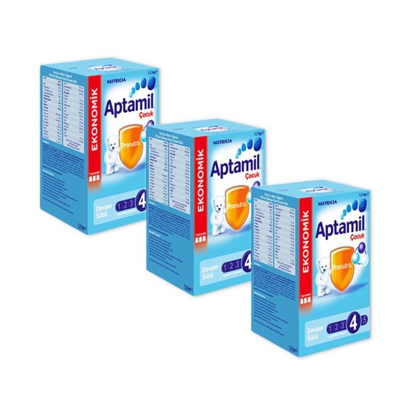 Aptamil 4 Çocuk Sütü 1200 gr 3'lü Paket