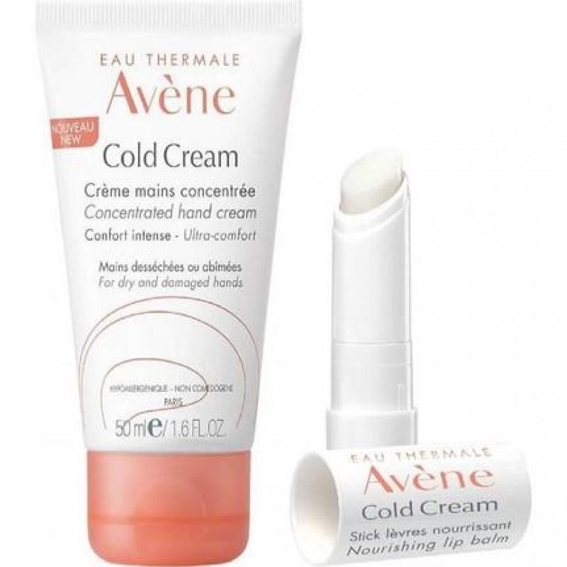 Avene Cold Cream Mains 50 ml + Lip Balm 4 gr Hediyeli