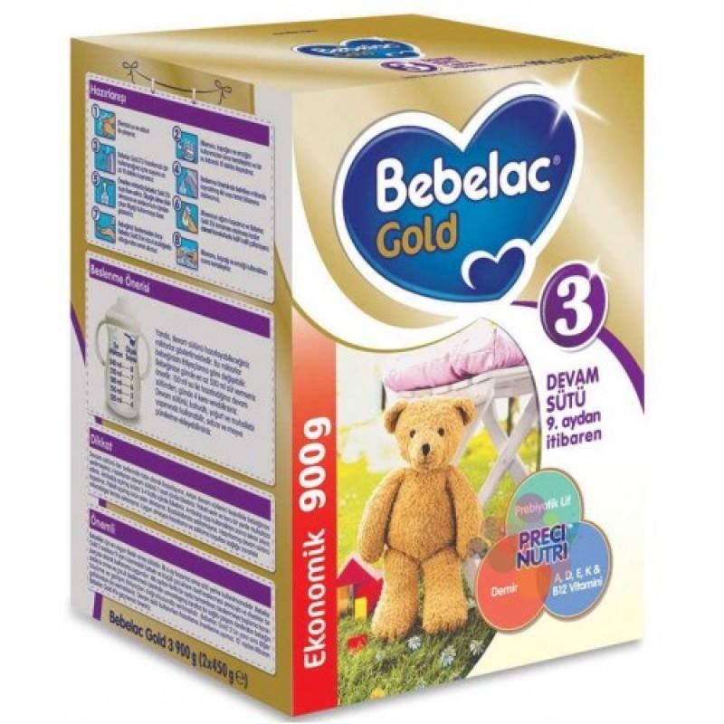 Bebelac Gold 3 Devam Sütü 900 gr (Yeni Kutu) 1 Yaşından itibaren