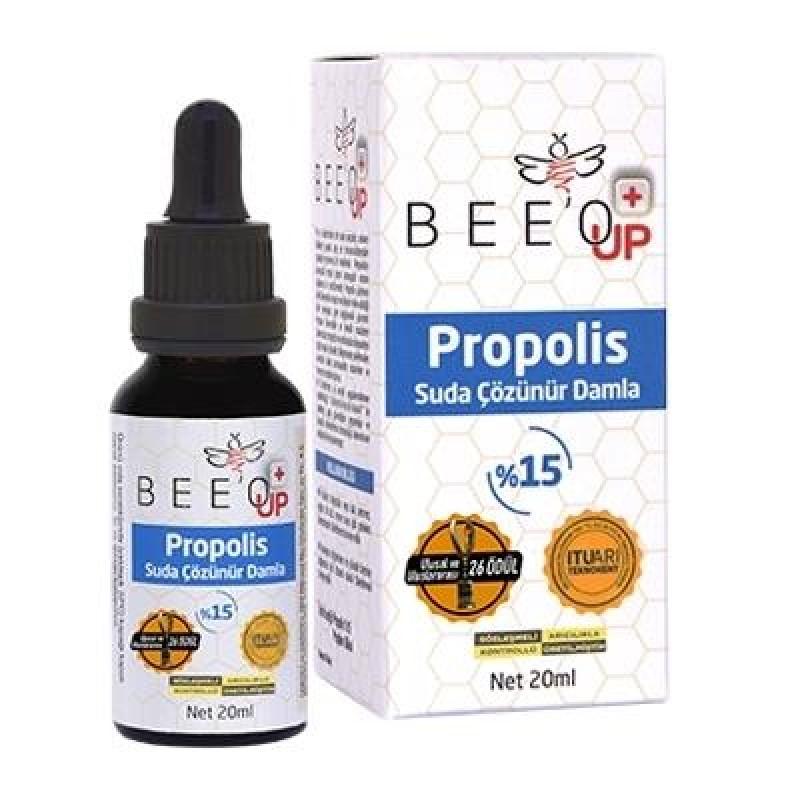 Bee`o Up Suda Çözünür Propolis Damla 20 ml