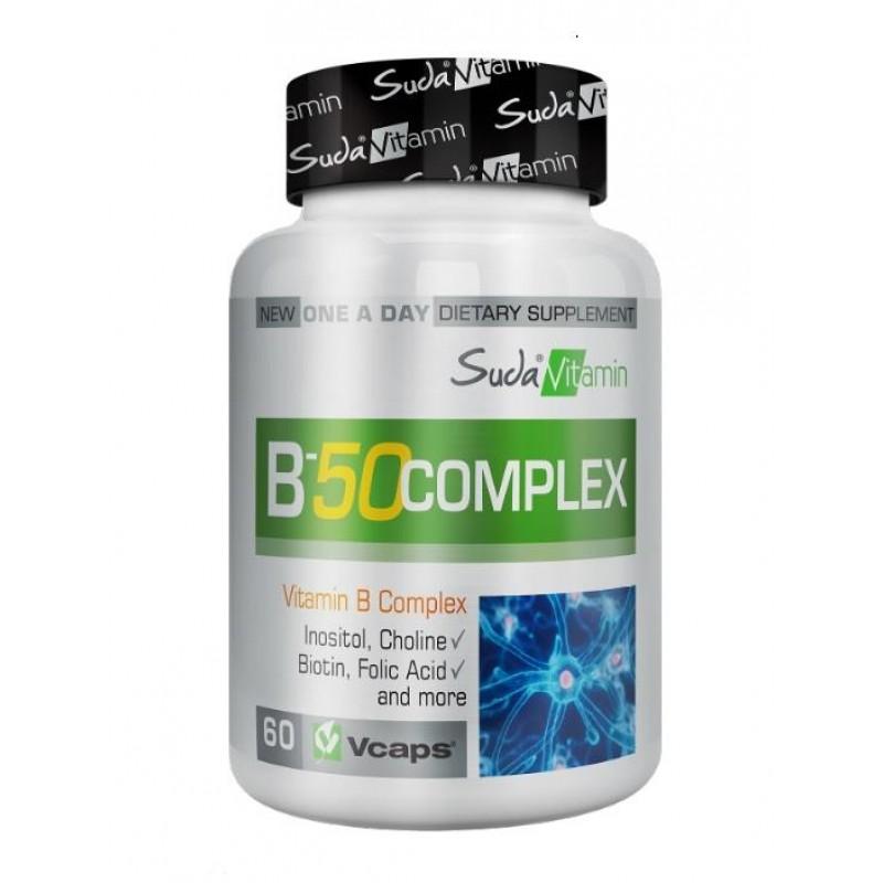 Suda Vitamin B-50 Complex 60 Bitkisel Kapsül