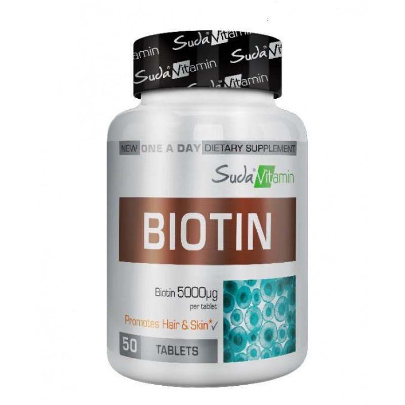 Suda Vitamin Biotin 5000 mcg 50 Tablet