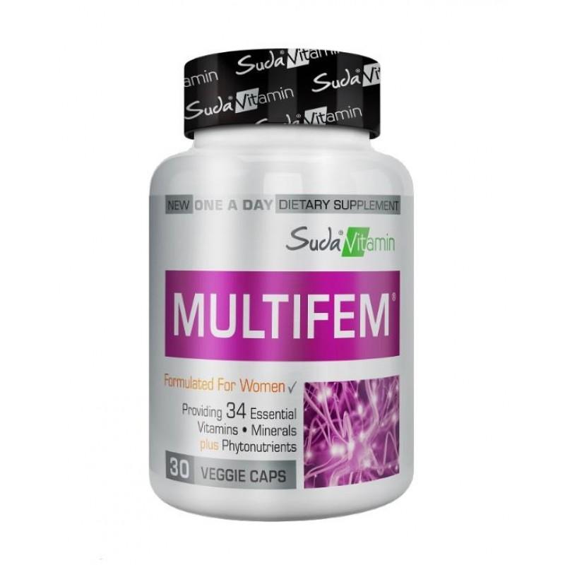 Suda Vitamin Multifem Womens Multivitamin 30 Bitkisel Kapsül