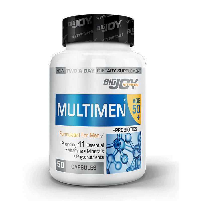 Bigjoy Vitamins Multimen 50+ Mens Multivitamin 50 Kapsül