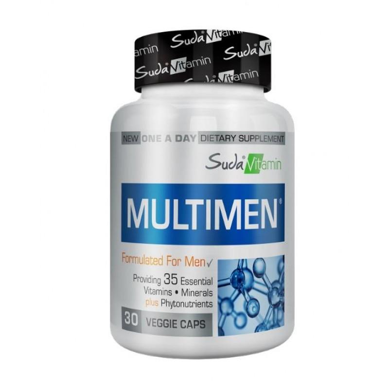 Suda Vitamin Multimen Mens Multivitamin 30 Bitkisel Kapsül