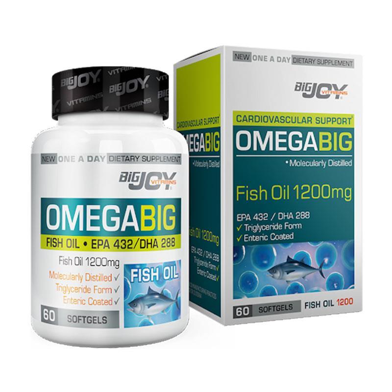 Bigjoy Vitamins Omegabig Fish Oil 1200 mg 60 Yumuşak Kapsül