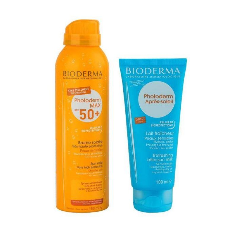 BIODERMA Photoderm Max Sun Mist 150 ml (SPF50+ UVA29) + After Sun 100 ml