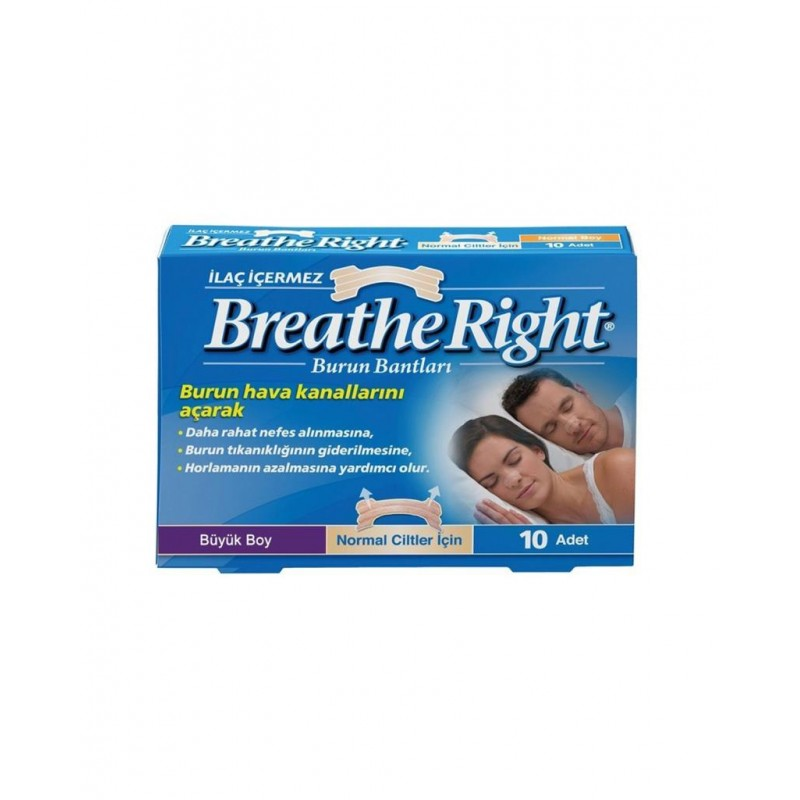 Breathe Right Klasik Burun Bantı Büyük Boy