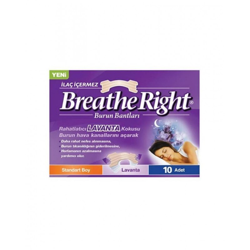 Breathe Right Lavanta Normal Boy 10 Adet Burun Bandı