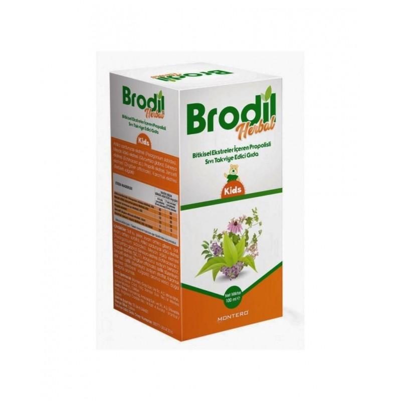 Brodil Herbal Kids Bitkisel Ekstreler İçeren Propolisli Sıvı Takviye Edici Gıda 100 ml