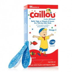 Caillou Omega 3 Balık Yağı 5 ml x 20 Kaşık