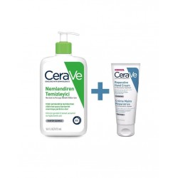 CeraVe Hydrating Facial Cleanser 473 ml & Onarıcı El Kremi 100 ml
