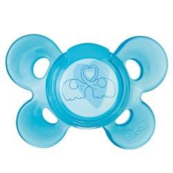 Chicco Physio Comfort Active Mavi Silikon (6-12 Ay) Tekli Emzik