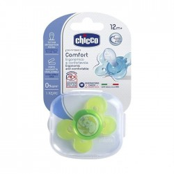Chicco Physio Comfort Active Yeşil Silikon (12M+) Tekli Emzik