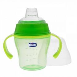 Chicco Soft 6 Ay+ 200 ml Alıştırma Bardağı (Yeşil)