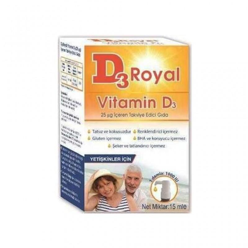 D3 Royal Vitamin D3 Damla 15 ml 1000 ıu