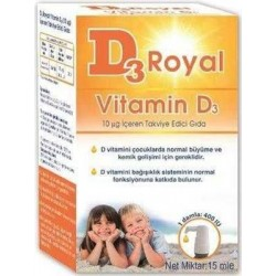 D3 Royal Vitamin D3 Damla 15 ml 400 ıu