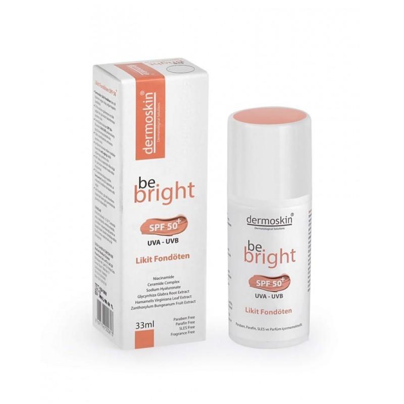 Dermoskin Be Bright Likit Fondöten Spf50 33 ml Light