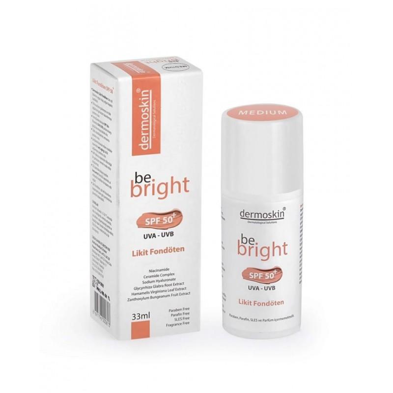 Dermoskin Be Bright Likit Fondöten Spf50 33 ml Medium
