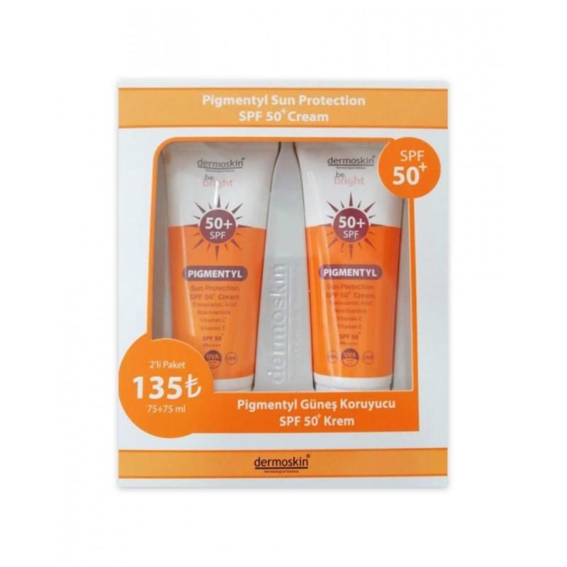 Dermoskin Pigmentyl Sun Protection Cream Spf50 75 ml İkili Paket