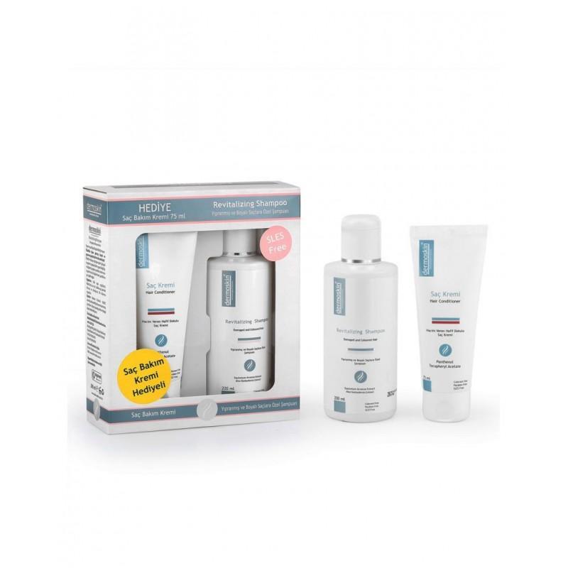 Dermoskin Revitalizing Shampoo 200 ml + Hair Conditioner 75 ml Hediye