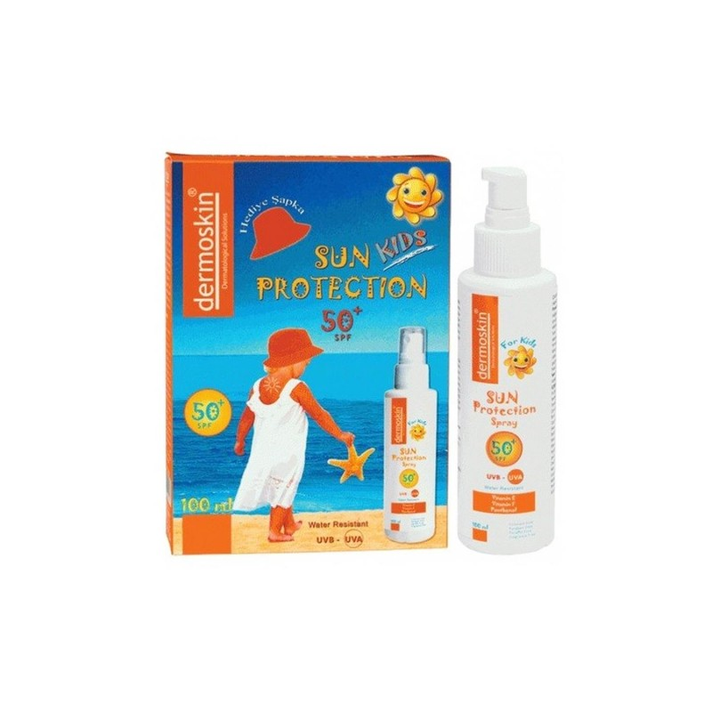 Dermoskin Sun Protection Spray Kids Spf50 100 ml Şapka Hediyeli