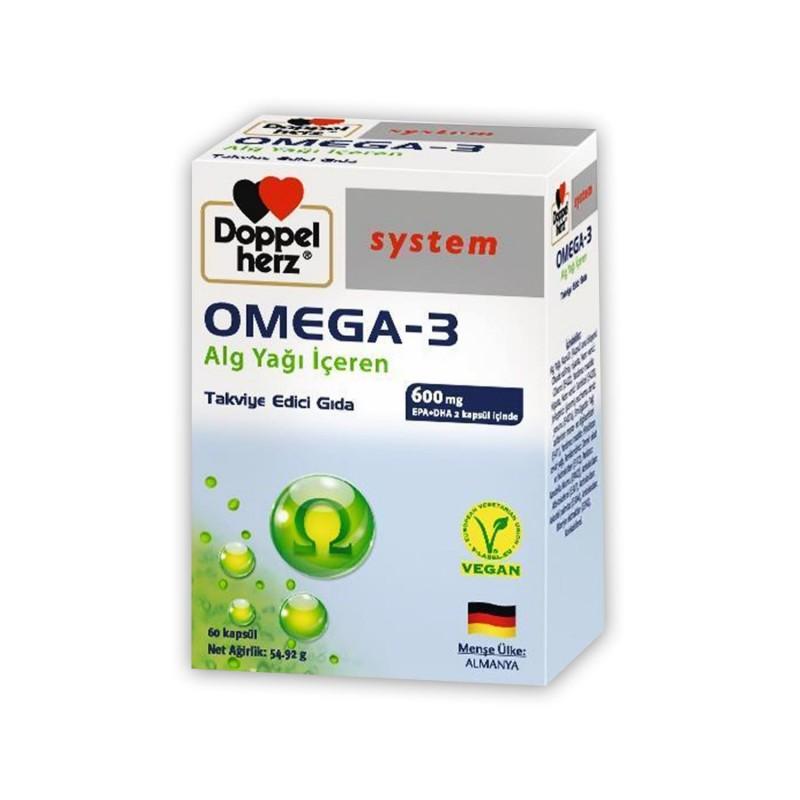 Doppelherz Omega 3 Alg Yağı İçeren Vegan 60 Kapsül