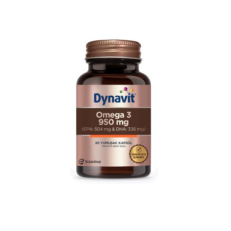 Dynavit Omega 3 950 mg 30 Yumuşak Kapsül SKT: 11/2021