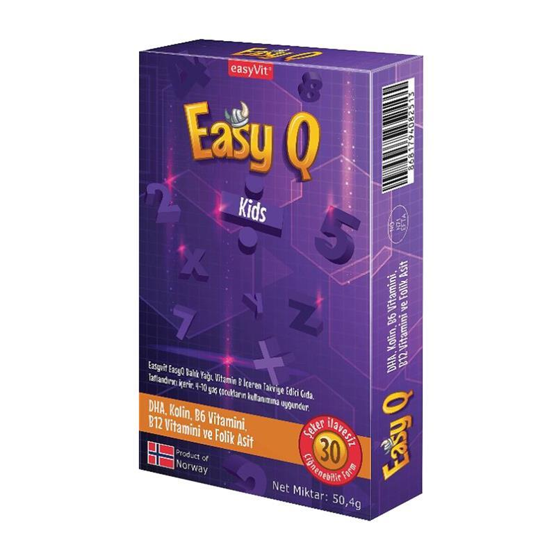 Easyvit Easy Q Kids Çiğnenebilir Jel 30 Adet