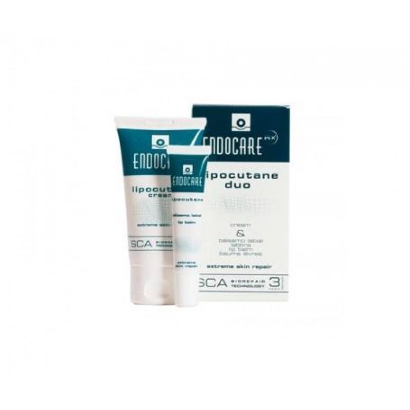 Endocare Lipocutane Duo - Cream 50 ml + Lip Balm 10 ml