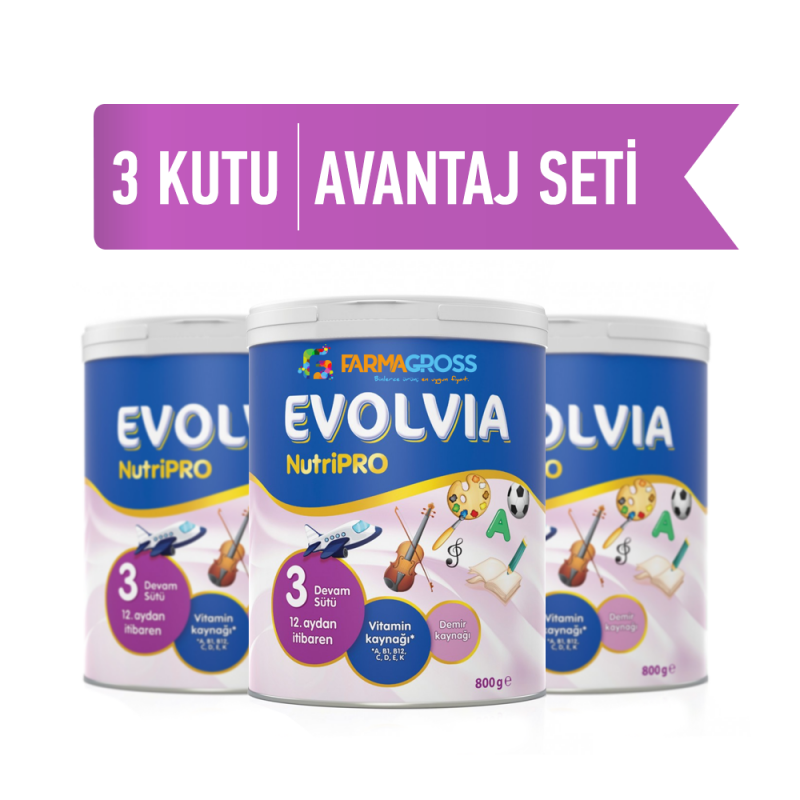 Evolvia NutriPro 3 Devam Sütü 3'lü 800 gr