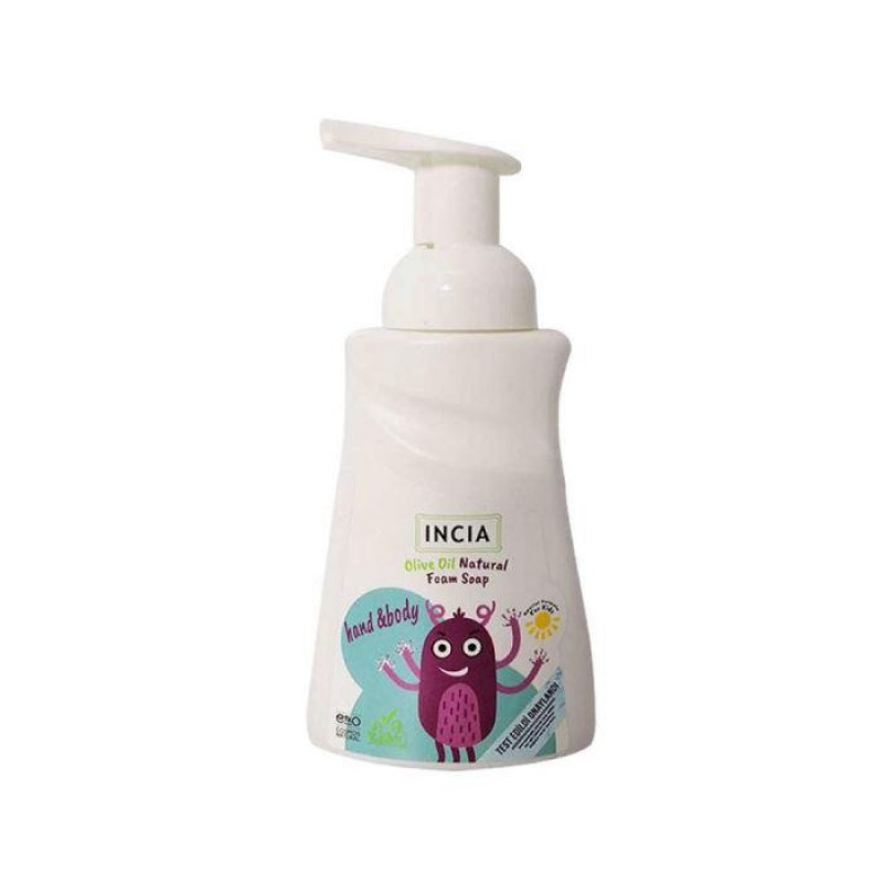 İncia Çocuklar İçin Doğal Zeytinyağlı Köpük Sabun 200 ml