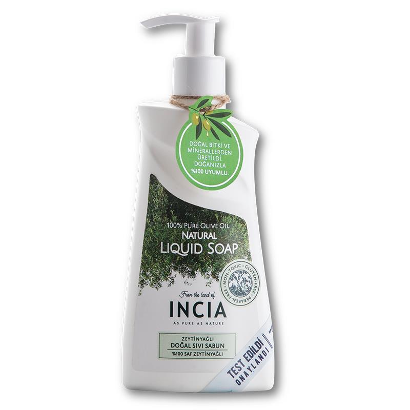 İncia Doğal Zeytinyağlı Sıvı Sabun 250 ml