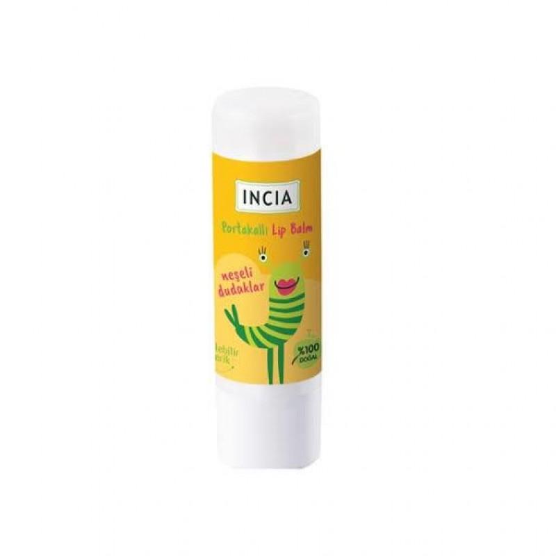 İncia Kids Lip Balm Dudak Besleyici Portakal 6 gr