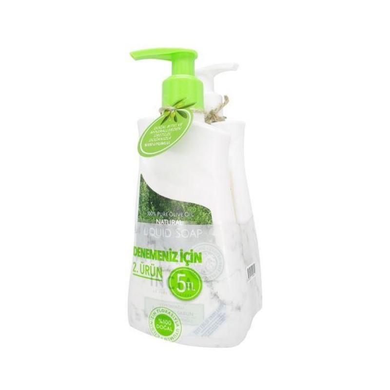 İncia Yoğun Nemlendiricili & Zeytinyağlı Doğal Sıvı Sabun Seti 2 x 250 ml