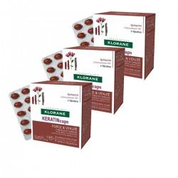Klorane Kınakına Kabuk Ekstresi + Keratin Takviye Edici Gıda 3 Al 2 Öde 30 Kapsül