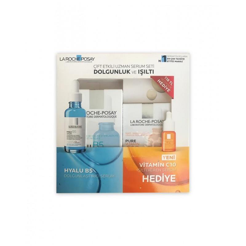 La Roche Posay Hyalu B5 Dolgunlaştırıcı Serum 30 ml & Vitamin C10 Işıltı Veren Serum 10 ml