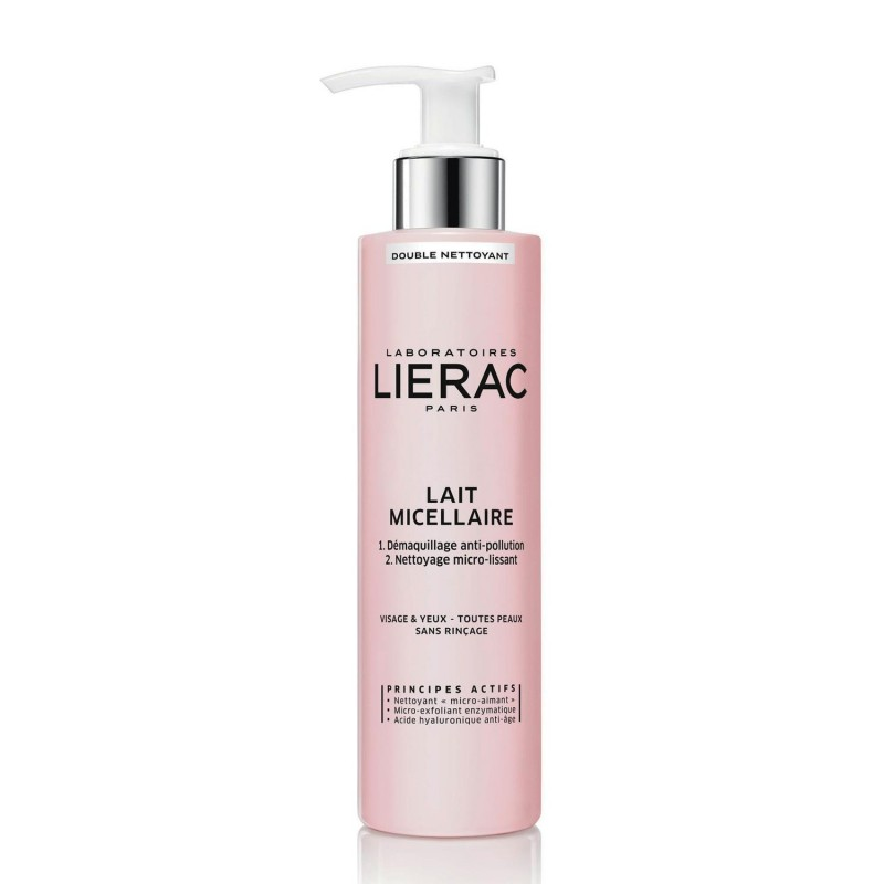 Lierac Double Cleansing Micellar Milk Face Eyes 200 ml
