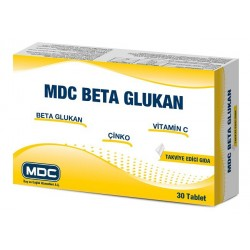MDC Beta Glukan C Vitamini Çinko 30 Tablet