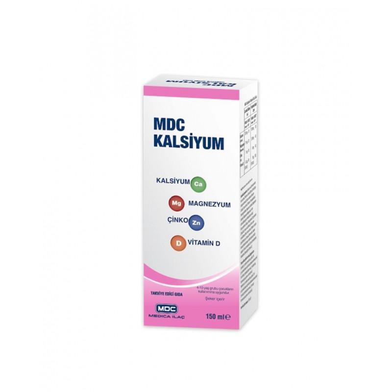 MDC Kalsiyum Magnezyum Çinko Vitamin D 150 ml
