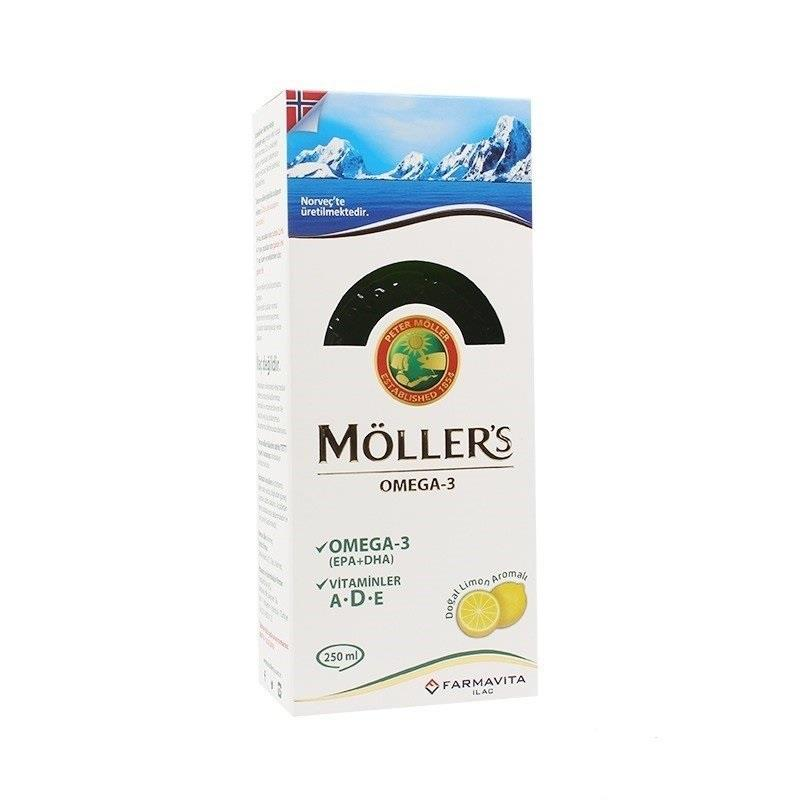 Möllers Balık Yağı Şurubu Limon Aromalı 250 ml