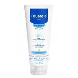 Mustela 2 in 1 Cleansing Gel 200 ml (Saç ve Vücut Şampuanı)