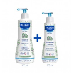 Mustela Gentle Yenidoğan Şampuanı 500 ml & Hydra Bebe Body Lotion 300 ml
