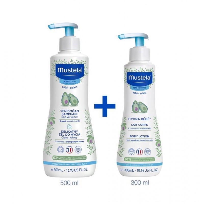 Mustela Gentle Yenidoğan Şampuanı 500 ml & Hydra Bebe Body Lotion 300 ml