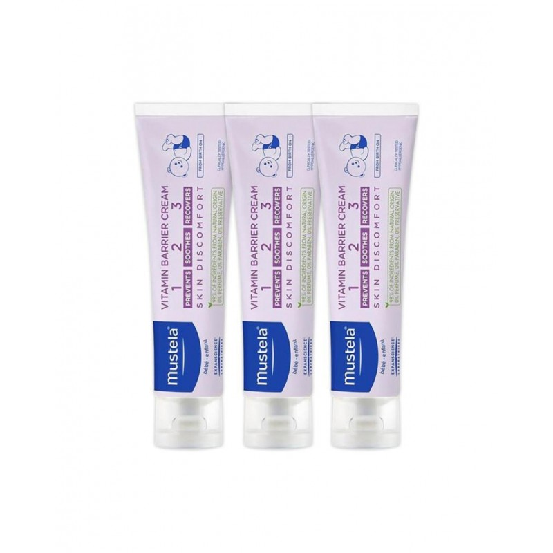 Mustela Vitamin Barrier Cream 1-2-3 50 ml Pişik Kremi 3 Adet