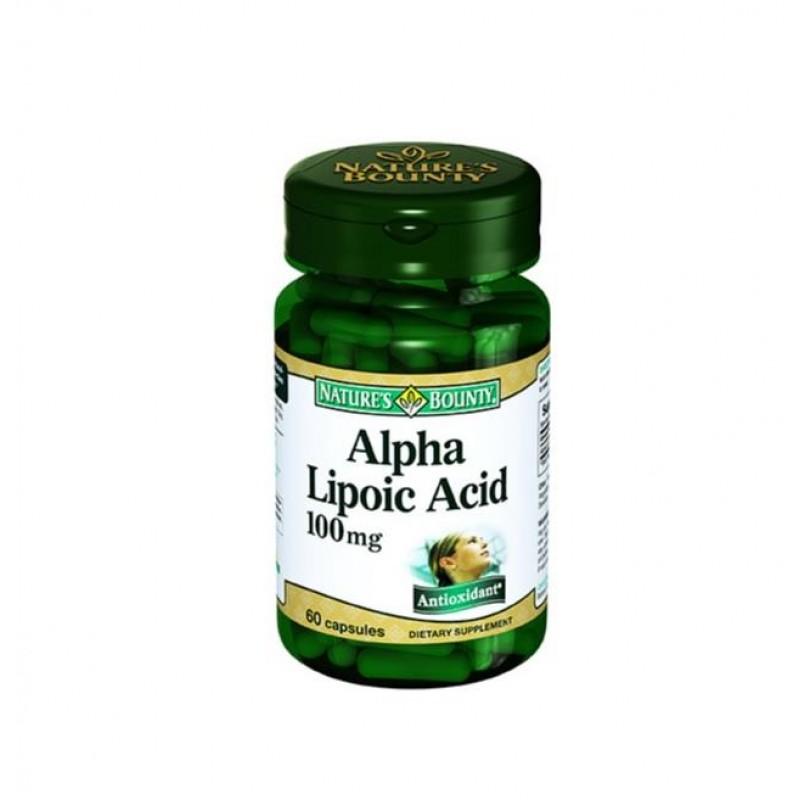 Nature's Bounty Alpha Lipoic Acid 100 mg 60 Kapsül