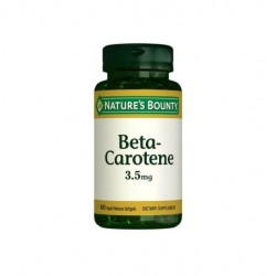 Nature's Bounty Beta Carotene 3.5 mg 60 Softgels