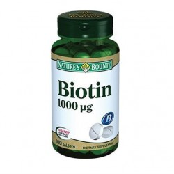 Nature's Bounty Biotin 1000 mcg 100 Tablet